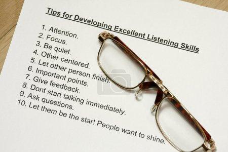 Tips for developing listening skills