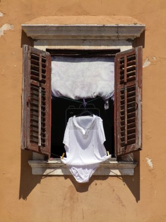 laundry hanging to dry on a