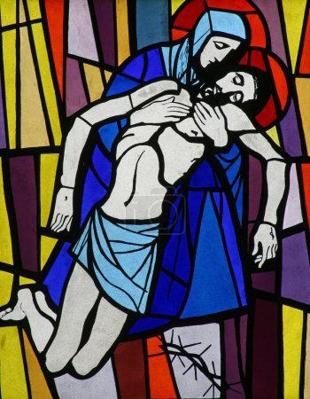 Photo for 13th Stations of the Cross, Jesus' body is removed from the cross - Royalty Free Image