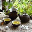 Still -life about china tea ceremony in spring mor...