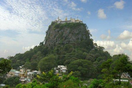 Myanmar. Mount popa. Buddhist monastery