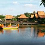 Постер, плакат: Tropical park and lake Cambodia