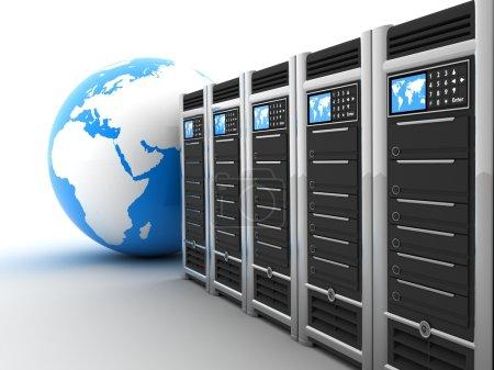 Server row and earth