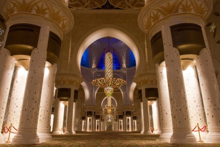 mosquée cheikh zayed à abu dhabi, uae