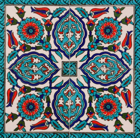 Photo for Decorative turkish tiles on a wall - Royalty Free Image