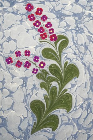 Marbled paper artwork