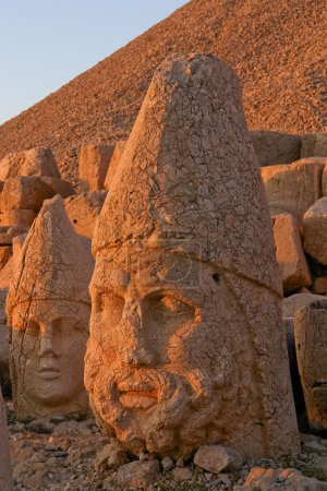 Heads of statues on Mount Nemrut Turkey