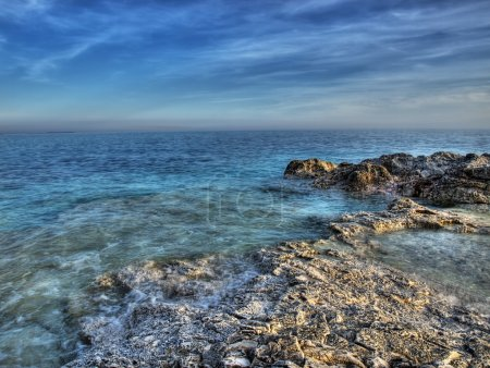 Photo for Rocky but beautiful coast of the clean Adriatic sea - Royalty Free Image