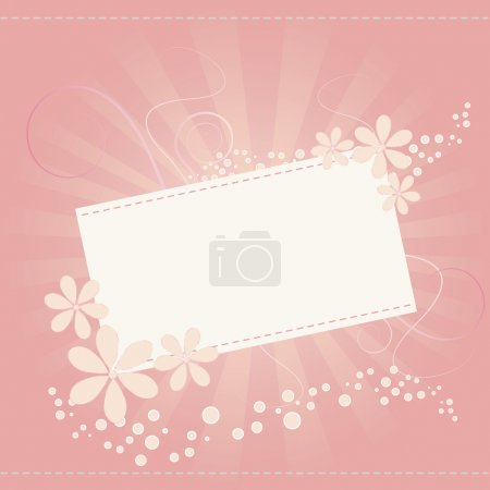 Illustration for Flower card for special occasions - Royalty Free Image