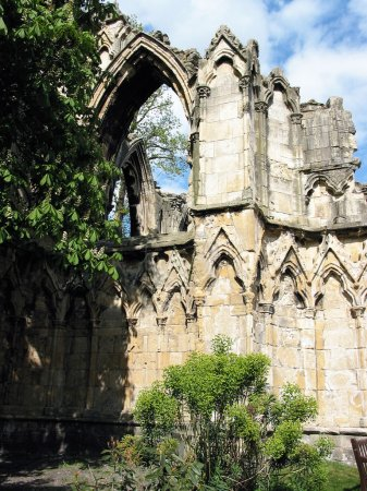 The ruins of Norman Cathedral, in York