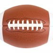 This is an isolated closeup of an American Footbal...