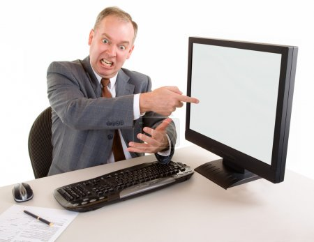 Angry Middle Aged Businessman