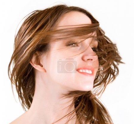 Hair in a Swirling Wind