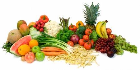 Foto de Se trata de un cierre de verduras y frutas.. - Imagen libre de derechos