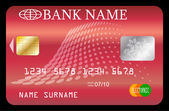 Credit card template - vector