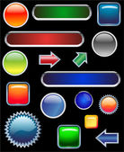 Glossy buttons collection - vector