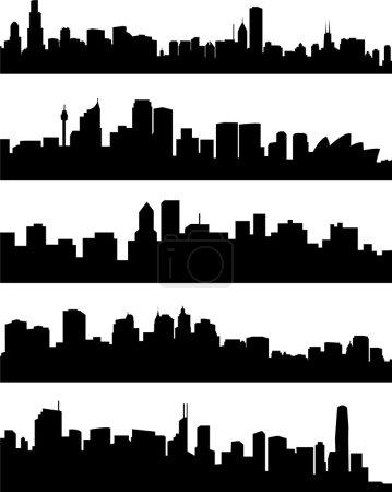 Photo pour Collection des villes panoramiques - vecteur - image libre de droit