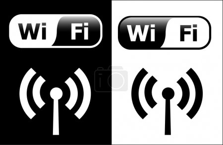 Illustration for Wi-fi symbols - vector - Royalty Free Image