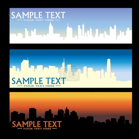 Photo for City skyline banners - vector - Royalty Free Image