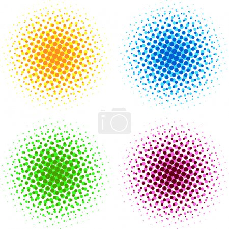 Colorful halftone dots
