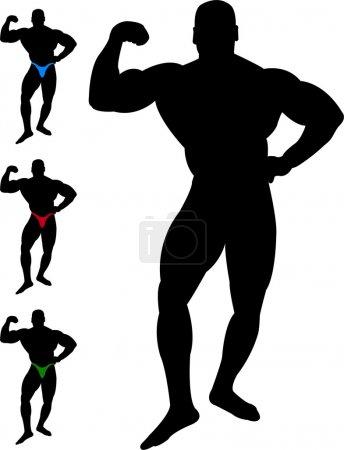 Bodybuilder silhouette