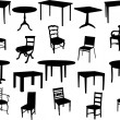 Tables and chairs collection - vector...