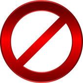 Forbidden sign