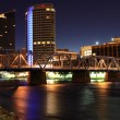 Grand Rapids along the Grand River at night...