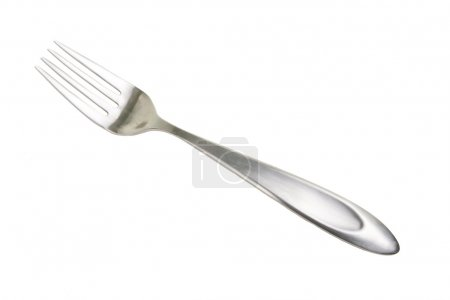 Photo for Stainless steel dinner fork isolated on white background - Royalty Free Image