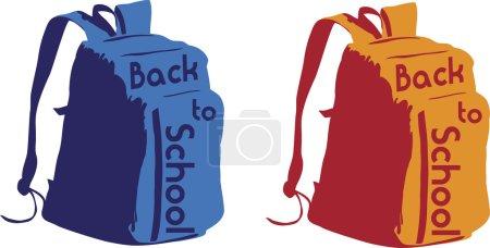 Retour à sac à dos scolaire