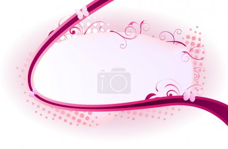 Beautiful frame ornated with pink swirls and dots...