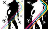 Disco Stripes Girl