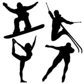 Black Winter Games Silhouettes