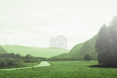 Photo for Beautiful country landscape view. Great nature scene. - Royalty Free Image