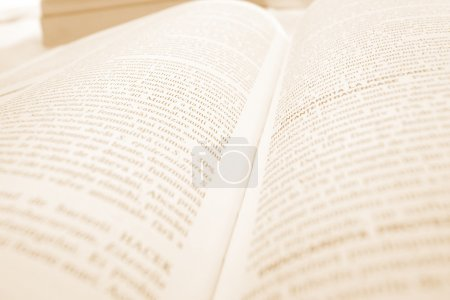 Photo for Macro image of an opened book - Royalty Free Image