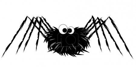 Illustration pour Illustration d'araignée mignonne isolée sur fond blanc - image libre de droit