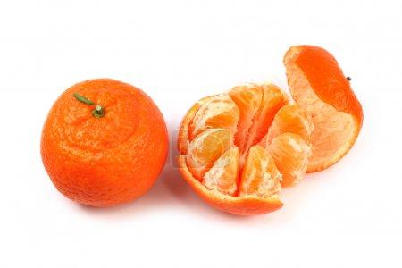 Photo for Fresh juicy ripe orange fruit isolated on white - Royalty Free Image