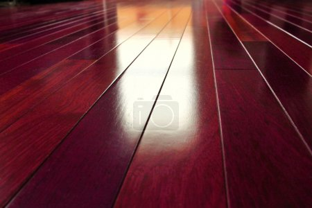 Photo for Texture background of exotic wooden floor - Royalty Free Image