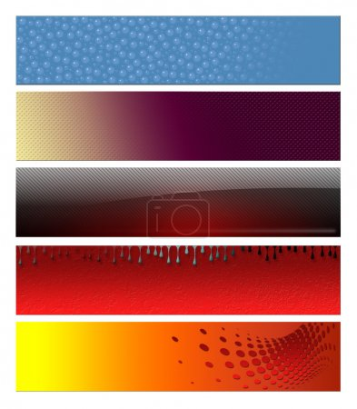 Photo for Blank, abstract banners, headers six projects - Royalty Free Image