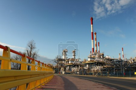 Photo for Shot of an oil refinery plant, Gdansk, Poland - Royalty Free Image