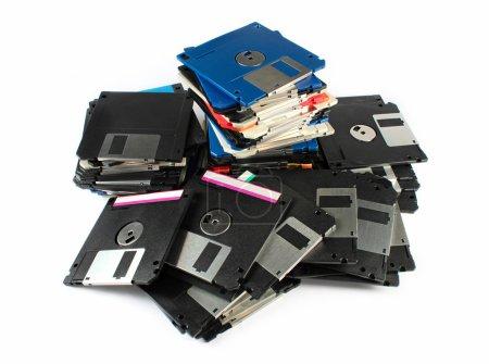 Pile of floppy discs