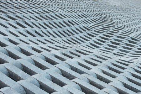 Texture from grey concrete bricks.