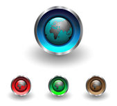 Multicolored web buttons with earth globe theme vector illustration