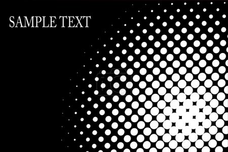 Illustration for Halftone, dot pattern background black and white editable vector - Royalty Free Image