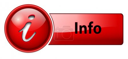 Information, info icon button, red glossy....