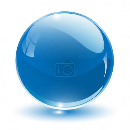 Illustration for 3D crystal sphere, vector illustration. - Royalty Free Image
