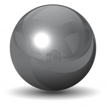 Vector metallic chrome sphere