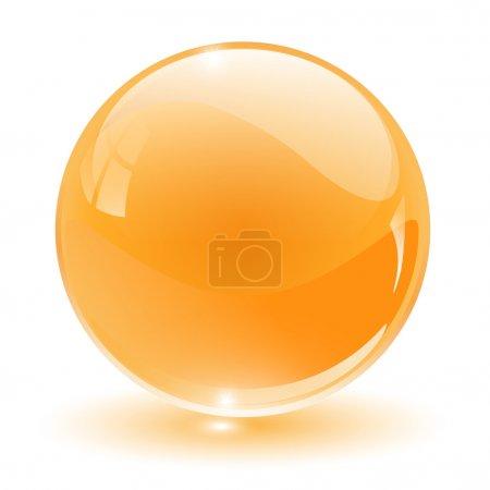 Illustration pour Cristal 3D, sphère de verre, illustration vectorielle . - image libre de droit