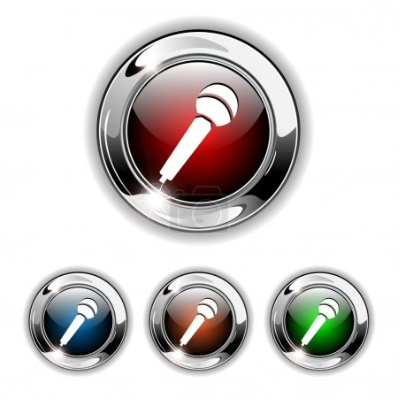Microphone icon, button, vector