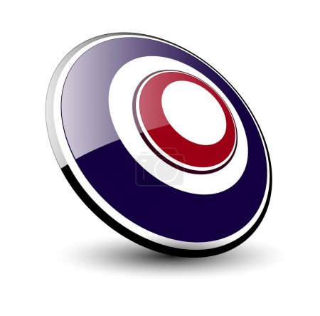 Illustration for Logo 3d ellipse, blue and red vector. - Royalty Free Image